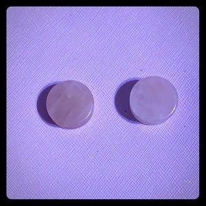 Rose quartz plugs size 3/4 19mm